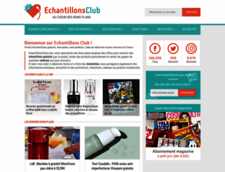 echantillonsclub.com screenshot
