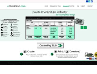 echeckstub.com screenshot