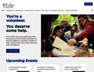 echo-ca.org screenshot