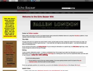 echobazaar.wikidot.com screenshot