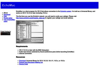 echomac.sourceforge.net screenshot