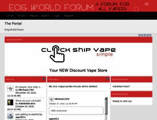 ecig-world-forum.com screenshot