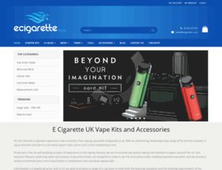 ecigarette.co.uk screenshot