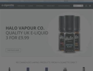 ecigarettedirect.co.uk screenshot
