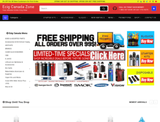 ecigcanadazone.com screenshot