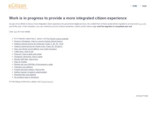 ecitizen.gov.sg screenshot