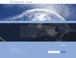 eckerlelawyers.com screenshot
