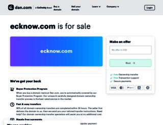 ecknow.com screenshot