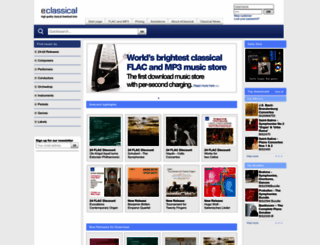 eclassical.com screenshot