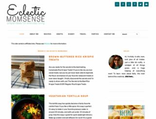eclecticmomsense.com screenshot