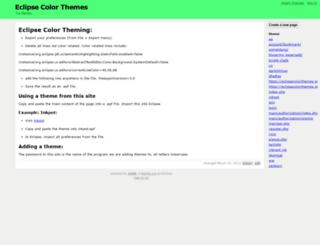 eclipsecolorthemes.jottit.com screenshot
