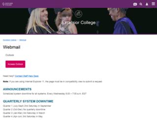 ecmail.excelsior.edu screenshot