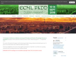ecmlpkdd2018.org screenshot