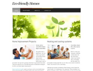 eco-friendlyhomes.webs.com screenshot