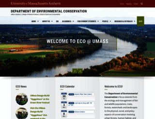 eco.umass.edu screenshot