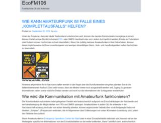ecoacrefm106.com screenshot