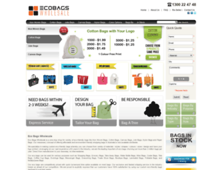 ecobagswholesale.com screenshot