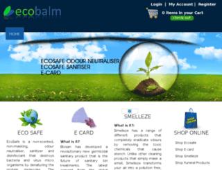 ecobalm.com.au screenshot