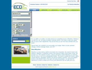 ecocarrental.com screenshot