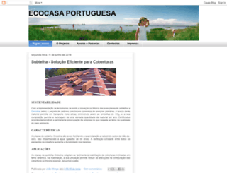 ecocasaportuguesa.blogspot.pt screenshot
