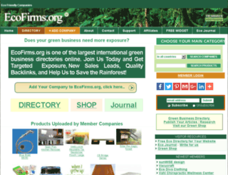 ecofirms.org screenshot