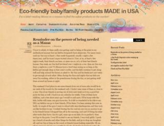 ecofriendlyusa.wordpress.com screenshot