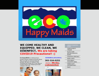 ecohappymaids.com screenshot