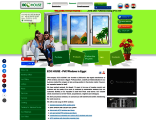 ecohouse-eg.com screenshot