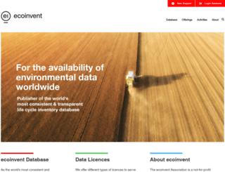 ecoinvent.ch screenshot