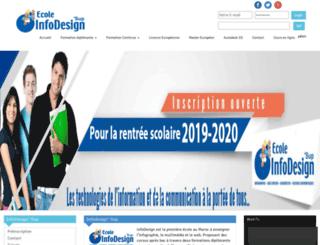 ecole-infodesign.ma screenshot