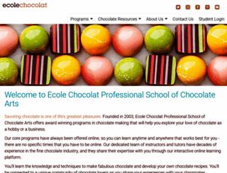 ecolechocolat.com screenshot