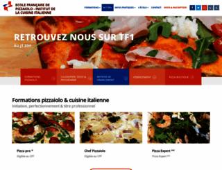 ecoledepizzaiolo.com screenshot