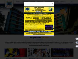 ecolemondiale.org screenshot