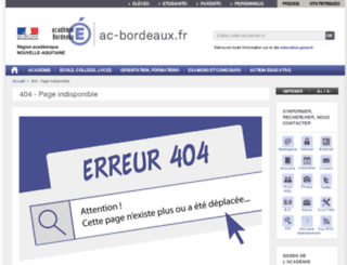 ecoles33.ac-bordeaux.fr screenshot