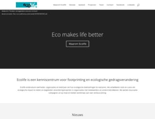 ecolife.be screenshot