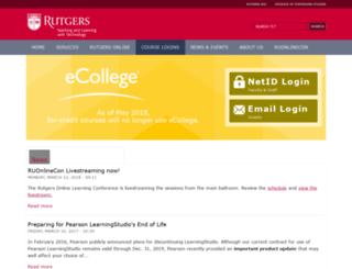ecollege.rutgers.edu screenshot