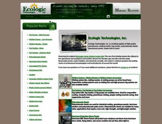 ecologictechnologiesinc.com screenshot