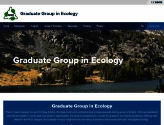 ecology.ucdavis.edu screenshot