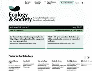 ecologyandsociety.org screenshot