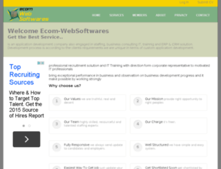 ecom-websoftwares.com screenshot
