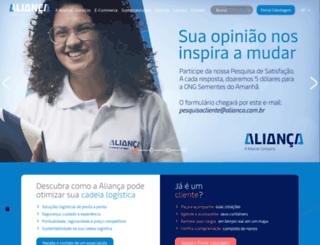 ecom.alianca.com.br screenshot
