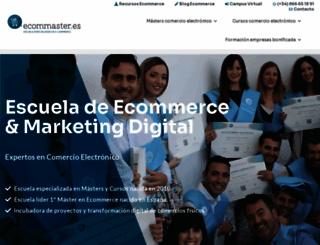 ecommaster.es screenshot