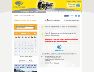 ecommerce.buenosairesbus.com screenshot