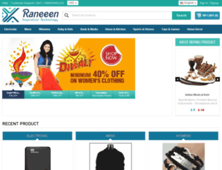 ecommerce.raneeen.com screenshot
