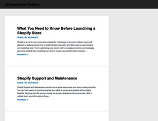 ecommercegallery.com screenshot