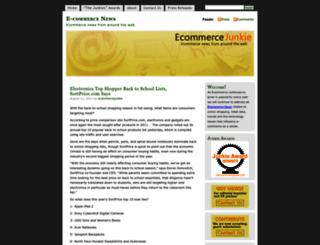ecommercejunkie.wordpress.com screenshot