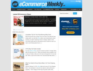 ecommerceweekly.com screenshot