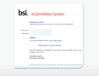 ecommittees.bsi-global.com screenshot
