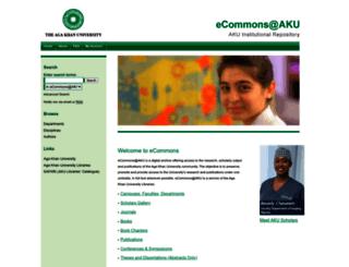 ecommons.aku.edu screenshot