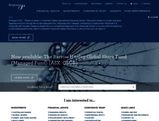ecomms.perpetual.com.au screenshot